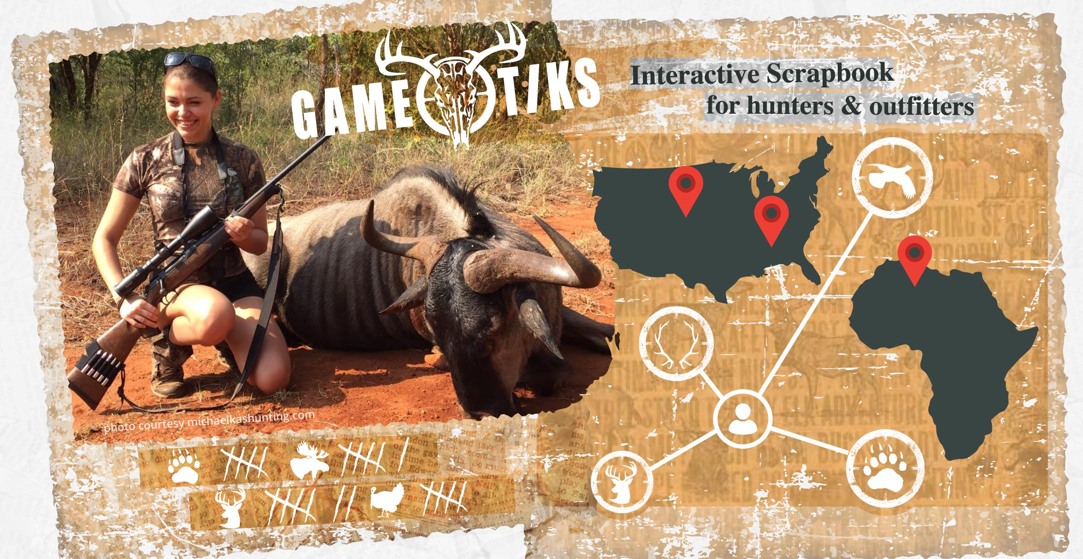 Interactive Scrapbook for Hunters & Outfitters